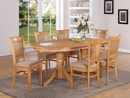 100 Oak Table 6 Chairs 7 PC VANCOUVER OVAL DINETTE KITCHEN DINING TABLE W Cherry Dining