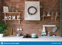 100 Loft Style Home Design Of A Modern Kitchen Stock Image Image Of
