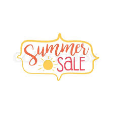 Summer Discount Colorful Ad Beach Holiday Promotion Banner Cool Calligraphic Hand Drawn Vector Advertisement For Travel Agency