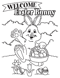 Free Downloads Coloring Easter Bunny Pages To Print At Printable