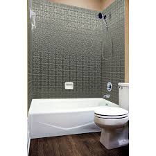 Bathtub Wall Liners Home Depot by Shop Mirroflex Savannah Galvanized Fiberglass And Plastic