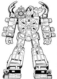 Power Ranger Coloring Pages Megazord