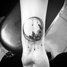 Crescent Moon Tattoo For Womens Wrist Ideas