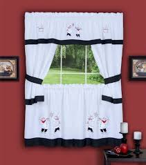 Amazon Red Kitchen Curtains by Mesmerizing Red And Black Kitchen Curtains Valances Window Shades