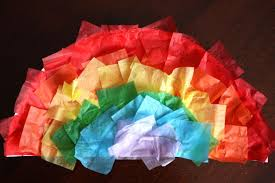 Crafts Tissue Paper Rainbows A Cool Rainbow Drawing Trick