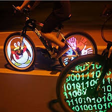 Amazon Cdycam 128 RGB LED Bicycle Spokes Lights Color