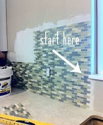 Tiling Inside Corners Wall by How To Install Backsplash Mesh Tile House Stuff Pinterest