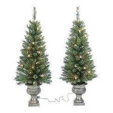 St Nicholas Square 2 Pc 3 1 Ft Potted Pre Lit Christmas Tree Set