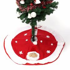 Wholesale Christmas Tree Skirt Non Woven Aprons Stand Ornament Xmas Party Decor Navidad Decorations Home Straight Edge 80cm Yard