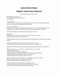 Ideas Collection Auto Body Repair Resume Objective Painter Lovely Sample