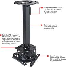 Projector Mount Drop Ceiling Kit by Peerless Prgexc 19 1 To 32 9 Inch Height Adjustable Projector