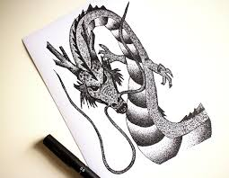 Dragon Ball Z Pumpkin Carving Templates by Dragonball Z Shenron Anime Stippling Black And White Ink