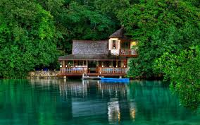 100 Houses In Nature HD Lakes Water Buildings Boat Trees Forest For
