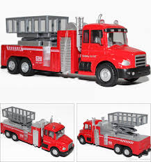 100 Model Fire Trucks Alloy Truck Toy Aerial Ladder Truck Toy Water Tanker 5