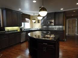 Kitchen Tile Backsplash Ideas With Dark Cabinets by Countertops Kitchen Countertops Made From Tile Island With Stove