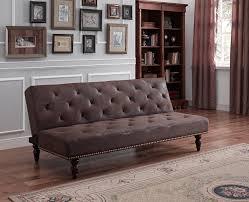 Mainstays Sofa Sleeper Weight Limit by Amazon Com Dhp Charleston Vintage Futon Brown Kitchen U0026 Dining