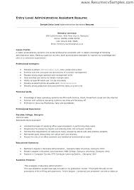 Great Entry Level Resume Examples Samples Sample For Resumes Human