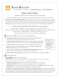 Career Objective Examples For Chef Resume Together With Sample