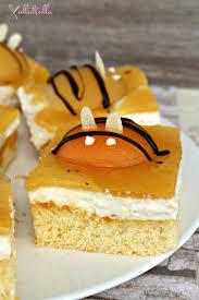 aprikosen schmand kuchen im bienchen look