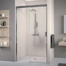 glasschiebetür dusche auf maß bis 200 cm breite schiebetür für nische typ8005071 mit wandschiene alu chromeffekt li