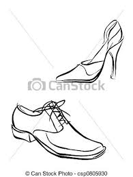 Illustration Of Shoes Stock