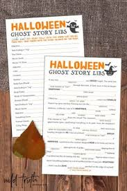 Halloween Mad Libs For 3rd Grade by Halloween Mad Lib Printable Ghost Story Game For Kids U0026 Adults