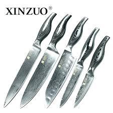 coffret couteaux cuisine set couteaux cuisine couteaux de cuisine japonais set de 5 pieces