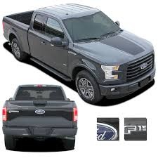 2015 2016 2017 Ford F-150 RACER HOOD Stripes And TAILGATE Decal ... 2016 2018 Toyota Tacoma Tailgate Letter Insert Gloss Series Ford F150 Center Stripe 15 Center Hood Racing Stripes Decals Stamped Sticker Reaper Tailgate Blackout Vinyl Graphic Decal Complete Set A 3rdg Jupiter On Earth Rode Precut Emblem Custom Raptor Mud Splash Wrap Car City Truck Graphics Wraps October 2012 Keith Brick Design Metal Mulisha Skull Circle Window X22 Speedway Blackout