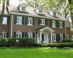 Windows Traditional Colonial Homes Exterior Design
