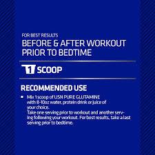Glutamine Before Bed by Amazon Com Usn Pure Glutamine Micronized Powder 500 Grams