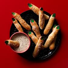 Halloween Pretzel Sticks by Witch U0027s Finger Bread Sticks With Maple Mustard Dip Recipe