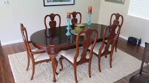 100 6 Chairs For Dining Room Oval Table W 78 X 42 Oahu Auctions