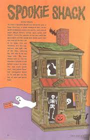 Haunted Halloween Crossword Puzzle by The Haunted Closet Jack And Jill Magazine October 1973