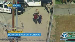 Chase Suspect Flees U-Haul Truck, Tries Hiding In Compton School ...