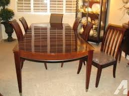 ethan allen dining room chairs round table used leaf cameron