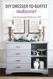 DIY Dresser Turned Sideboard Buffet Makeover Painted Furniture Dining Room