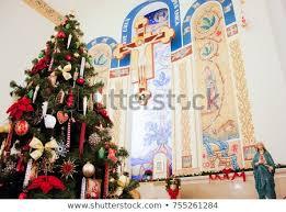 Christmas Tree Roman Catholic Church Kazan City Russia