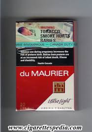 Du Maurier with diagonal line Ultra Light KS 20 H Canada