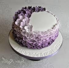 Wedding Cakes With Purple Flowers