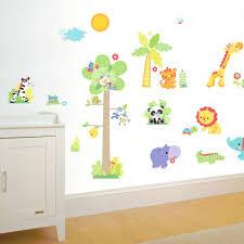 stickers jungle chambre bébé stickers muraux chambre bebe pas cher jungle choosewell co