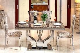 Glass Dining Room Chairs Modern Set Table With 6