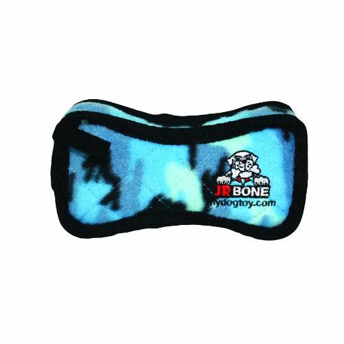 Tuffy Jr's Bone Dog Toy - Blue Camo