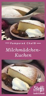 milchmädchen kuchen mit kompott