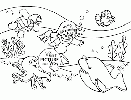 Underwater Coloring Page For Kids Summer Pages