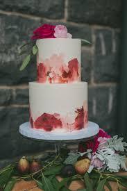 Painterly Pink Wedding Cake