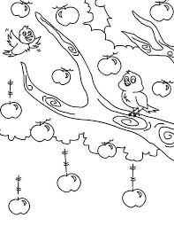 Apple Tree Two Birds And An Colouring Page