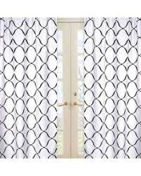 Sweet Jojo Elizabeth Curtains by Sweet Jojo Designs Gray And White 84 Inch Window Treatment Curtain