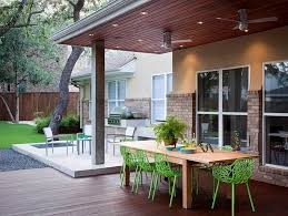 View In Gallery Backyard Complete With Outdoor Kitchen And Dining Design Austin
