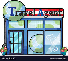 A Travel Agent Office Vector Image