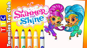 Shimmer And Shine NICK JR FUN Coloring Book Page Activity Live For Kids Children